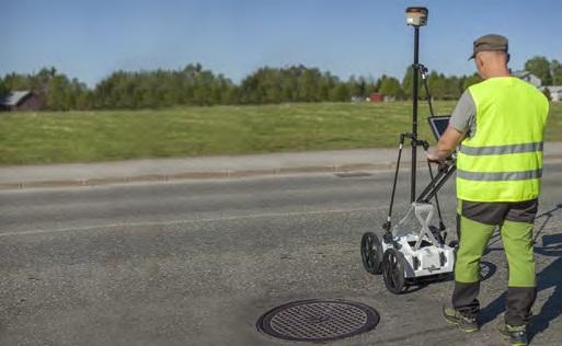 Работа с георадаром CrossOver CO4080 на тележке